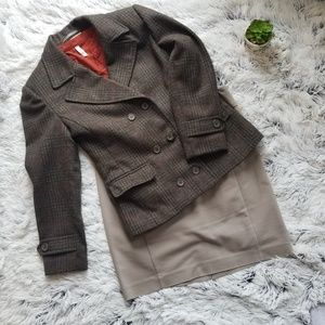 Vintage International Scene Tweed 100% Wool Blazer